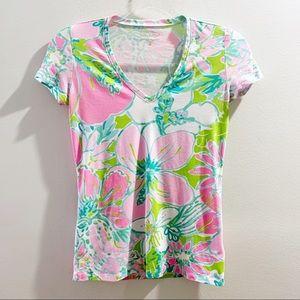 Lilly Pulitzer V-Neck T-Shirt Size XXS